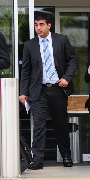 Alexander Iacuone leaves the Supreme Court in Canberra after his sentence hearing in 2013