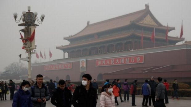 Pollution is regularly at harmful levels to health in big Chinese cities.