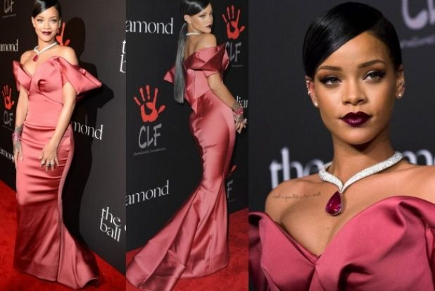 THE BEST: Yes, this is an intense gown. And yes, that is an extravagant origami neck line. But, hey, it's Rihanna - ...
