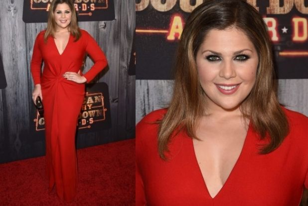 THE GOOD: Here's Lady Antebellum's Hillary Scott smashing it out the park in red jersey Lanvin (the same dress Demi ...