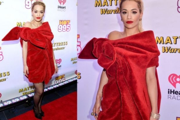 THE BAD: To Rita Ora's credit, this Viktor & Rolf 'dress' would not look good on anyone (perhaps the Dutch designers are ...