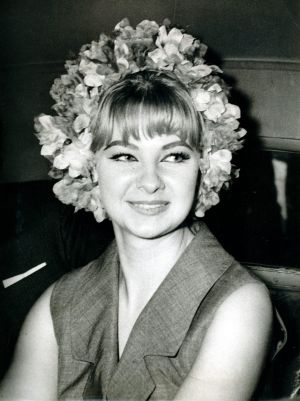 Mandy Rice-Davies, then 18, who gave evidence at a trial at the Old Bailey.