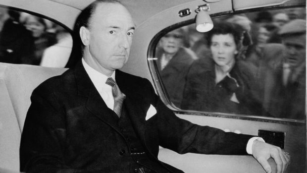 British Secretary of State for War John Profumo (1915-2006), who was forced to resign over his affair with Christine Keeler.