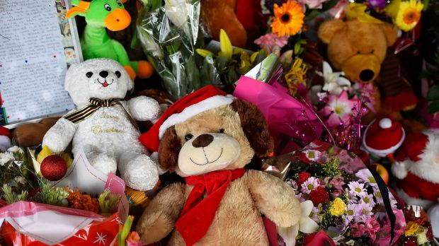 The trinkets for eight children found dead in Cairns on Friday.