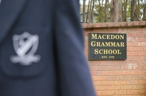 Financial trouble: Macedon Grammar School was about to close its doors when it received a $250,000 donation from a ...