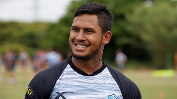 Feeling welcome: Cronulla Sharks recruit Ben Barba.