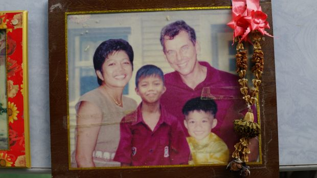 Family photo of Australian John Dimmock, his wife Pranom Chotprapast and sons Nott and Sor, who were all killed by the ...