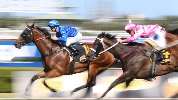 """Beautiful ride"": James Innes takes Haussman to victory at Rosehill on Saturday."