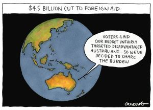 Cuts to Australia's foreign aid budget have not been widely debated by the public.