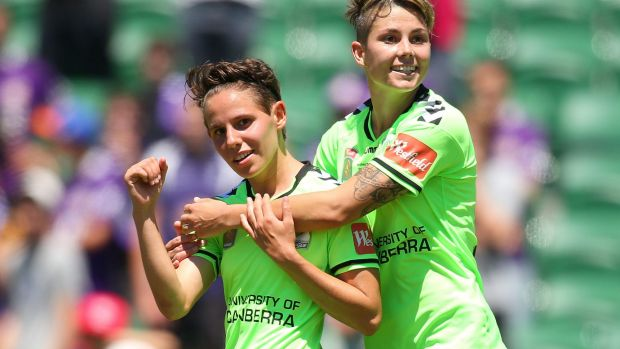Canberra United teammates Ashleigh Sykes and Michelle Heyman both made the Matildas' squad.