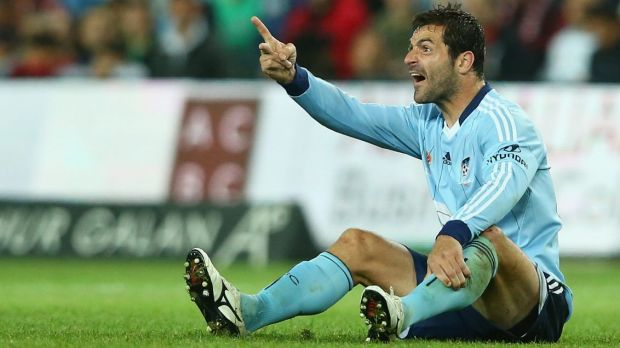Down on his luck: There is a cloud hanging over the football career of Sasa Ognenovski.