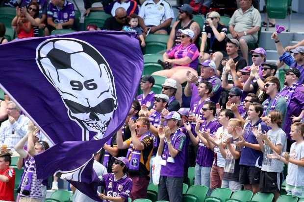 Glory fans show their support.