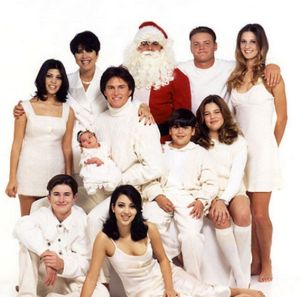 A throwback to the Kardashian-Jenner clan's 1995 Christmas card (with Bruce Jenner in the middle).