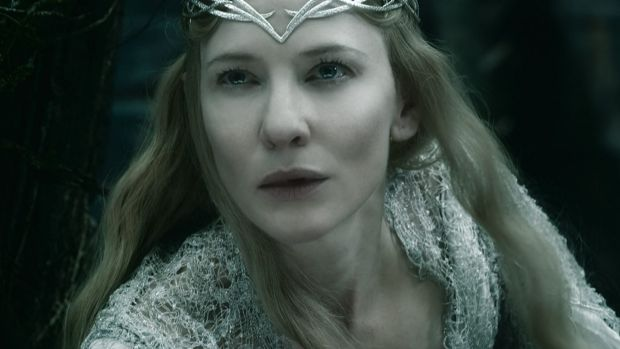 Exotic dialect: Cate Blanchett as the Elf Queen, Galadriel, in The Hobbit: The Battle of Five Armies.