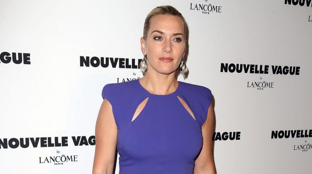 Clean: Kate Winslet knows that tighter is better for a curvy figure.