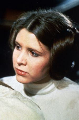 Considered for Grease: Carrie Fisher as Princess Leia in <i>Star Wars</i>.