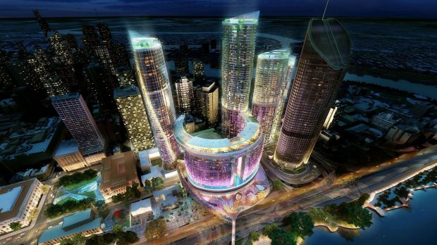 An artist's impression of the Echo casino proposed for Brisbane.