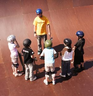 Keep rollin': Stay safe with a class at Monster Skatepark.