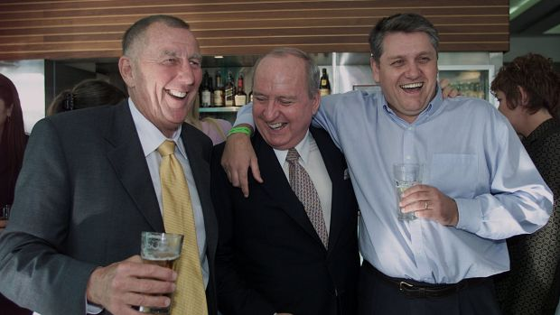 John Singleton, Alan Jones and Ray Hadley.