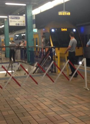 Platforms 3 and 4 were barricaded and passengers were ushered onto bus services.