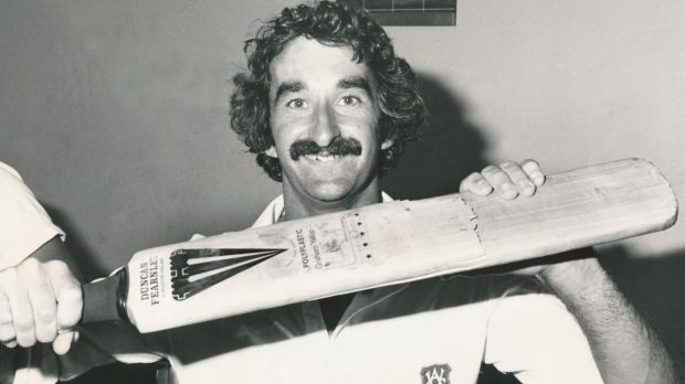 Moss in 1980 when he still had his dark curls and moustache.