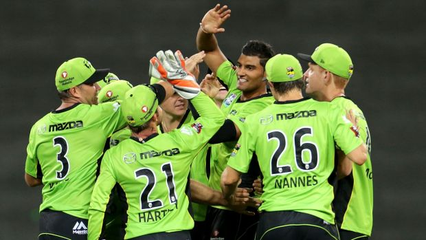 """""""It's always good to get a few wickets and contribute to the win"""": Sydney Thunder's Gurinder Sandhu."""