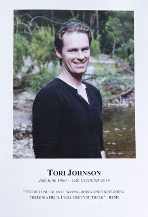 Tori Johnson sent texts to his family just half an hour before he was killed.