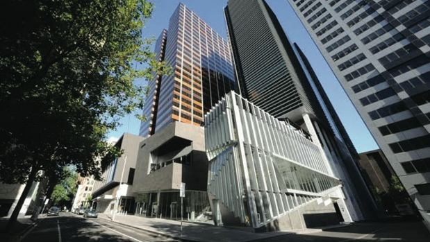 CBW Building, corner of Bourke and Collins streets in Melbourne.