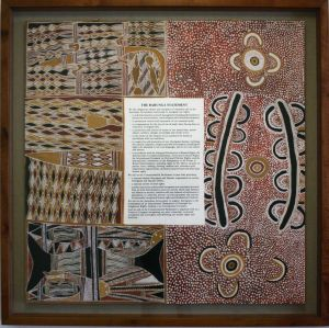 The Barunga statement, which hangs in Parliament House.