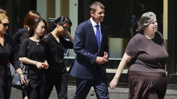Premier Mike Baird joined friends and family at siege victim Tori Johnson's memorial service.