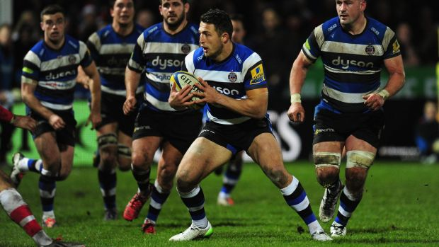 Try time: Sam Burgess scored in a 44-5 win over London Irish.