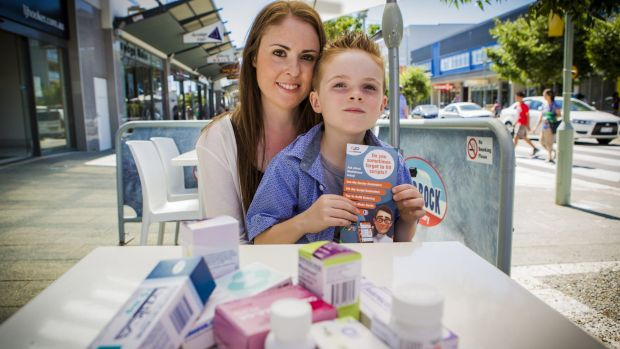 Hannah Thomson uses the MedAdvisor app for her son Vincent and for herself as she has to manage nearly 20 prescriptions.