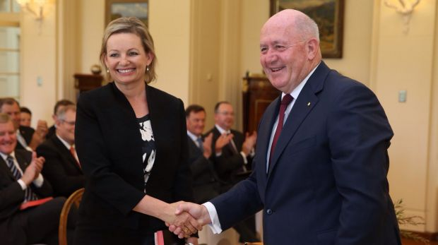 Sussan Ley was sworn-in as Health Minister by Governor-General Sir Peter Cosgrove in December.