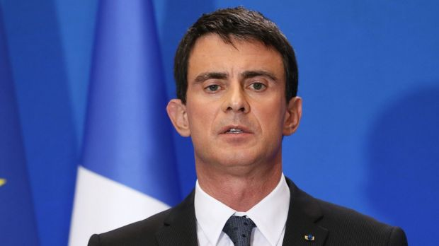 """""""We must not panic"""": French Prime Minister Manuel Valls."""