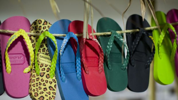 Hot item ... thongs made by Gandys Flip Flops have been worn by everyone from billionaire Richard Branson and members of ...