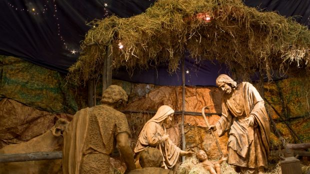 Away in a manger? This particular detail of the story isn't in the Bible.