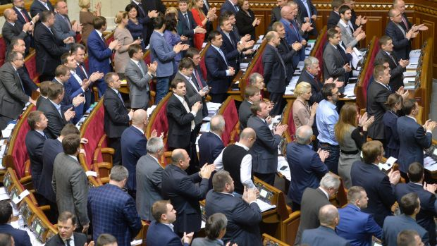 The Ukraine parliament voted overwhelmingly to take steps towards joining NATO.