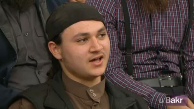 Charged: Sulayman Khalid during his controversial appearance on the TV show <i>Insight</i>.