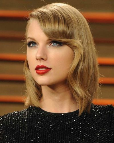 Taylor Swift also went for a bob this year, replacing her long curls with a sleek new style.