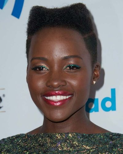 Lupita Nuong'o had a stellar beauty year, but this hair and makeup combo from the GLAAD awards is a winner.