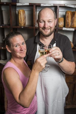 Paul Clowry and Trilby Rippon toast to the end of an era for the Cornucopia Bakery that shuts its doors on Christmas Eve ...