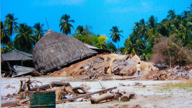 Hit hard by the tsunami: Nancowrie Island, in the Nicobar Islands