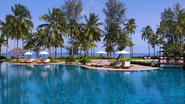 One of the resorts in Khao Lak before the devastating tsunami hit.