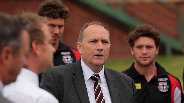St Kilda president Peter Summers at the Junction Oval last month.