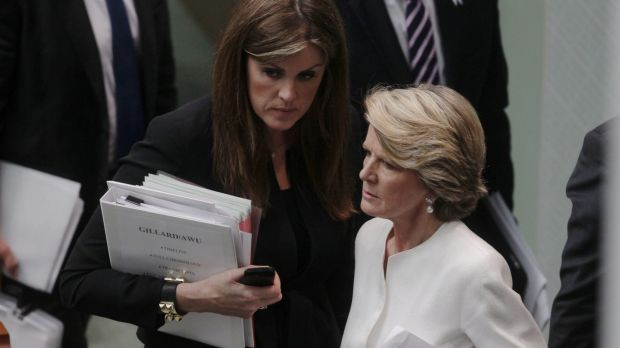 Relations between Peta Credlinand Julie Bishop have been strained for a number of months.
