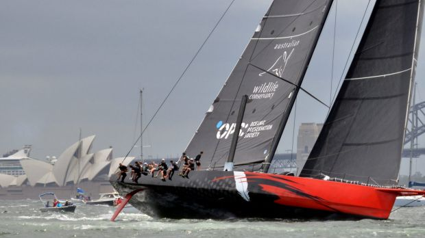 Choppy conditions: Boats in the Sydney to Hobart are expected to face strong winds on Boxing Day.