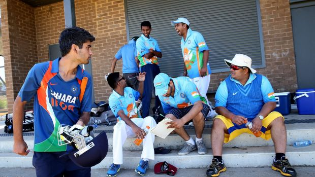 The Swami Army prepare for their cricket match in Wheelers Hill.