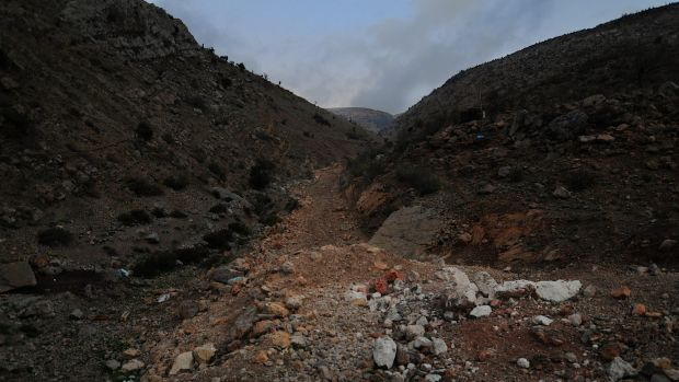 The path from Syria into Shebaa, Lebanon.