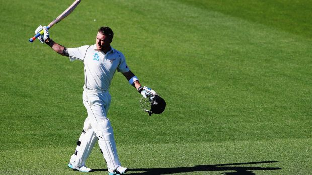 What an innings: Brendon McCullum out for 195.