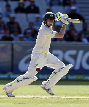 Australia captain Steve Smith plays a cut shot on day one of the Boxing Day Test against India at the MCG.